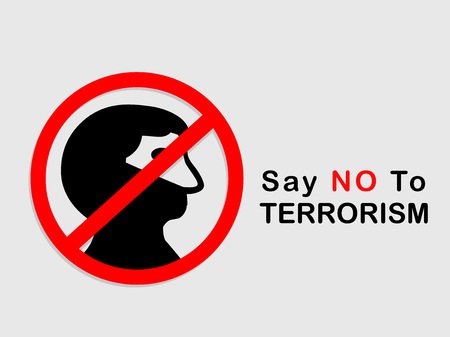extremist: Stop Terrorism background Illustration