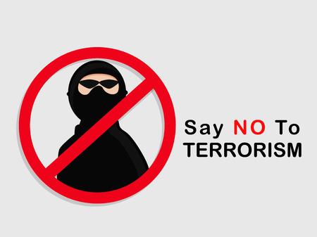 Stop Terrorism background Illustration