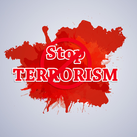 Stop Terrorism background Illustration