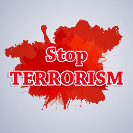 Stop Terrorism background Ilustrace