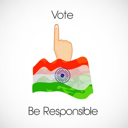 Illustration of India voting background