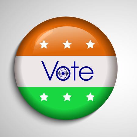 slip homme: Illustration of India voting background