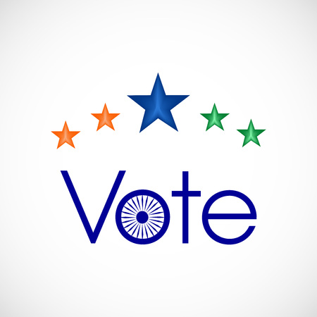 Illustration of India voting background