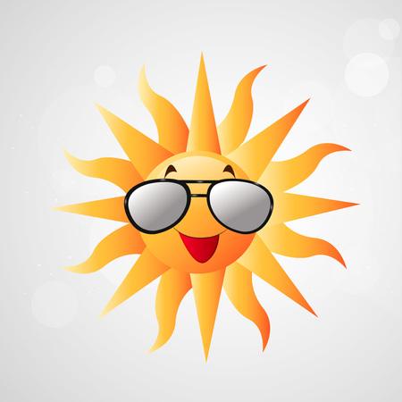Illustration of sun for Summer season