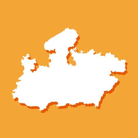 Illustration of Indian state Madhya Pradesh map