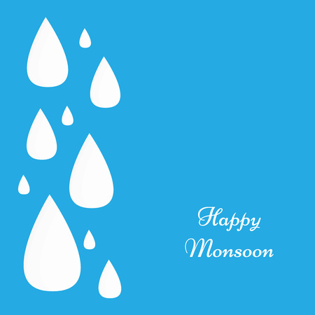 Monsoon season background Illustration