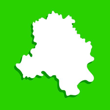 Illustration of Indian state Delhi map
