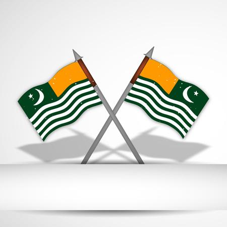 illustration of Jammu & Kashmir flag