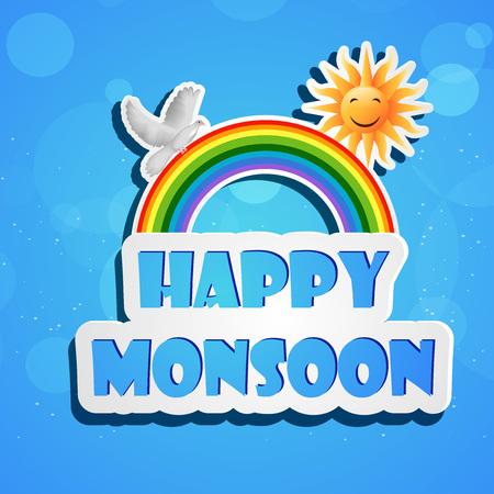 Monsoon season background Illustration