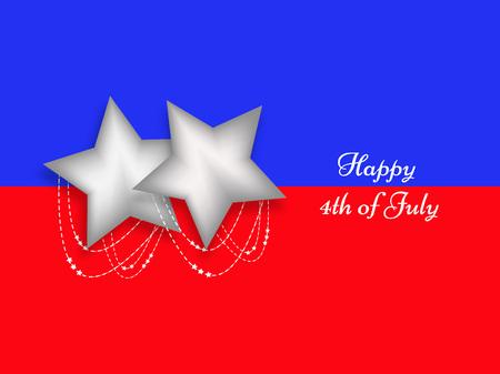 nationalism: U.S.A Independence day background Illustration