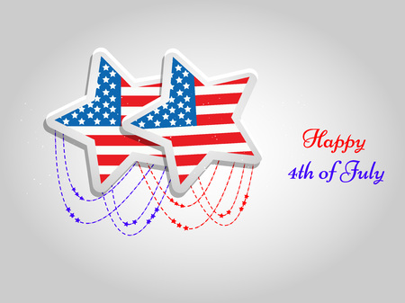 U.S.A Independence day background Illustration