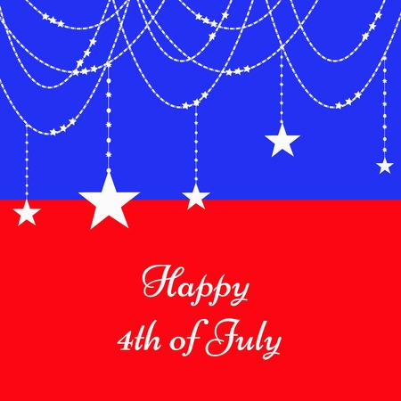 U.S.A Independence day background Illustration
