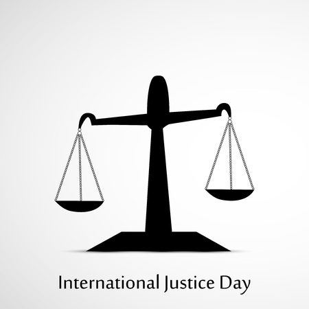 scale: International Justice Day background