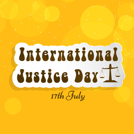 justice scale: International Justice Day background