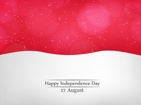 17th: Indonesia Independence Dy background Illustration