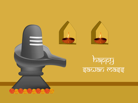 Sawan or Shivratri background. Vector illustration.