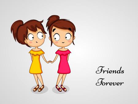 Illustration du fond de l'amitié Banque d'images - 82573279