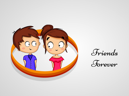 Illustration of elements of friendship day background.