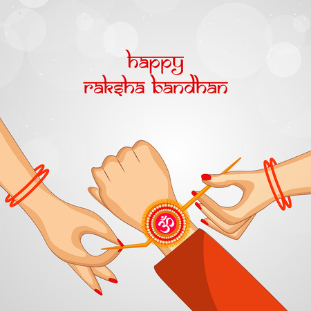 Illustration of elements of Hindu Festival Raksha Bandhan Background