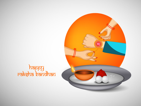 affection: Illustration of elements of Hindu Festival Raksha Bandhan Background Illustration
