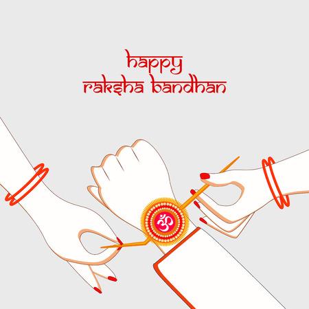 Illustratie van de achtergrond van het hindoefestival Raksha Bandhan