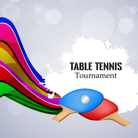 Illustration of elements for the indoor sport Table tennis