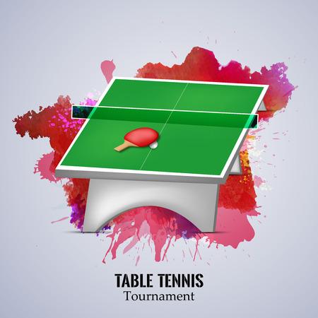 Illustrazione di elementi per il tennis indoor Archivio Fotografico - 82337590