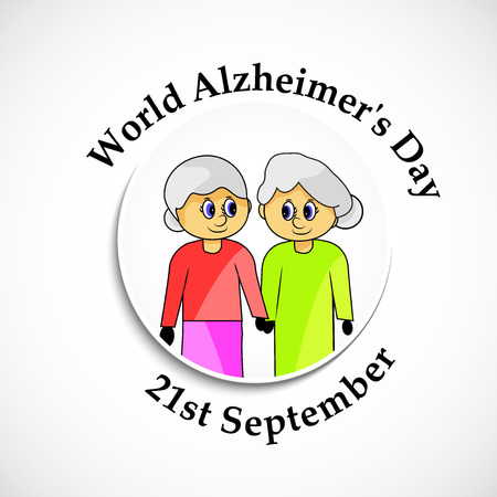 illustration of World Alzheimers Day background