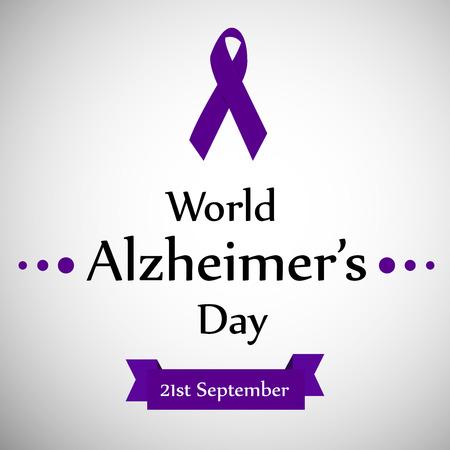 illustration of World Alzheimer's Day background Vettoriali