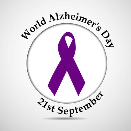 illustration of World Alzheimers Day background