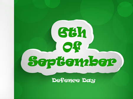 6th: illustration of Pakistan Defence Day Background
