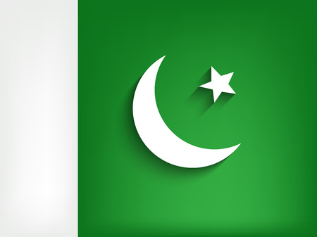 flag of pakistan: illustration of Pakistan Defence Day Background