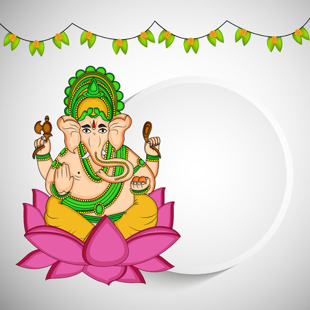 illustration of hindu festival Ganesh Chaturthi Background