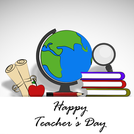 Student Life: illustration of teachers day background