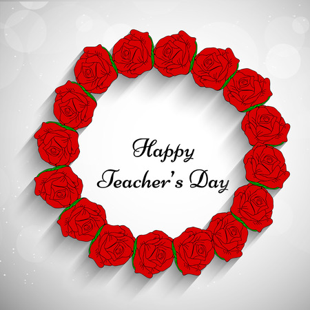 illustration of teachers day background