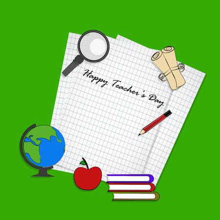 illustration of teachers day background