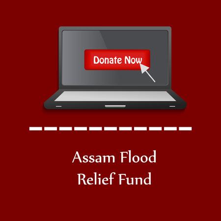 Assam flood background