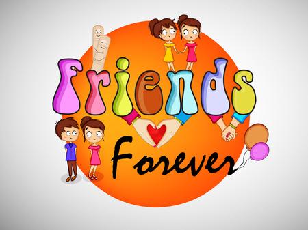 illustration of Friendship day background Illustration