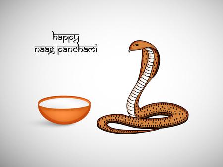 Ilustración de la serpiente para el festival hindú Naag Panchami celebrado en la India