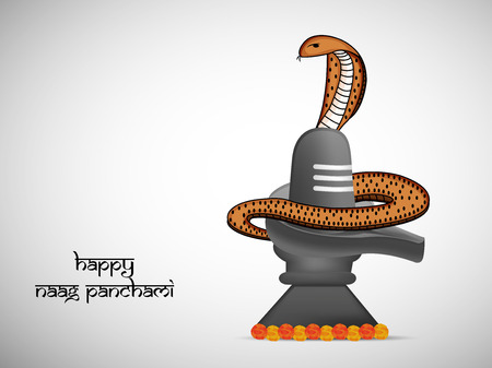 Illustration of Snake for Hindu festival Naag Panchami celebrated in India