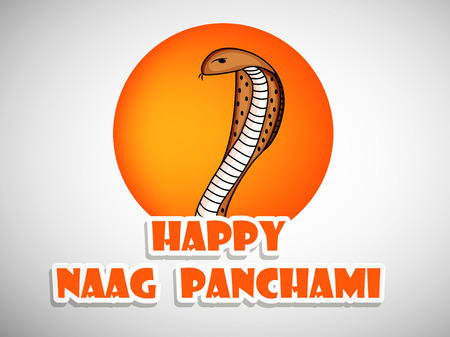 mantra: Illustration of Snake for Hindu festival Naag Panchami celebrated in India