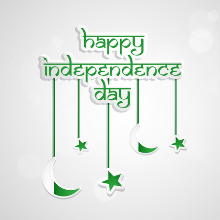 Pakistan Independence Day background 向量圖像