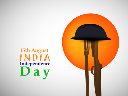 An illustration of elements of India Independence Day Background.
