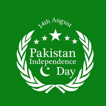 illustration of elements of Pakistan Independence Day Background