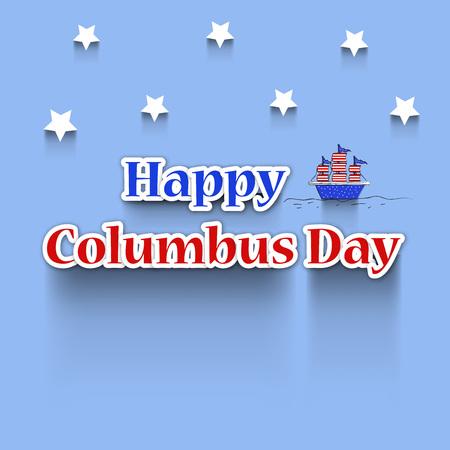 illustration of elements of Columbus Day Background Vector Illustration