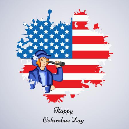 illustration of elements of Columbus Day Background Illustration
