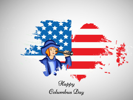 la: illustration of elements of Columbus Day Background Illustration