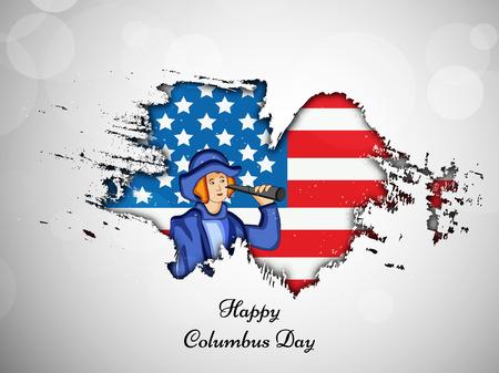 illustration des éléments de l'arrière-plan de Columbus Day