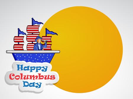 Illustration d'éléments de Columbus Day Background Illustration