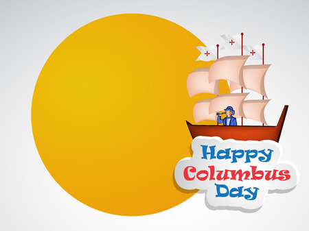 Illustration of elements of Columbus Day Background Illustration